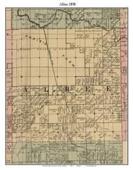 Albee, Michigan 1890 Old Town Map Custom Print - Saginaw Co.