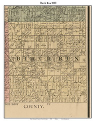Birch Run, Michigan 1890 Old Town Map Custom Print - Saginaw Co.