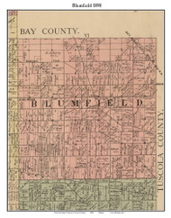 Blumfield, Michigan 1890 Old Town Map Custom Print - Saginaw Co.