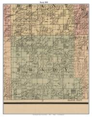 Brady, Michigan 1890 Old Town Map Custom Print - Saginaw Co.