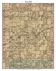 Brant, Michigan 1890 Old Town Map Custom Print - Saginaw Co.