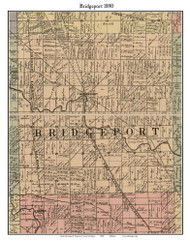 Bridgeport, Michigan 1890 Old Town Map Custom Print - Saginaw Co.