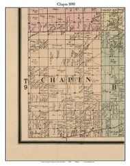 Chapin, Michigan 1890 Old Town Map Custom Print - Saginaw Co.