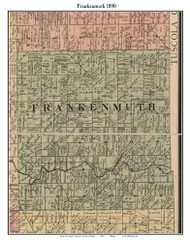 Frankenmuth, Michigan 1890 Old Town Map Custom Print - Saginaw Co.