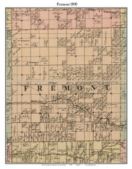 Fremont, Michigan 1890 Old Town Map Custom Print - Saginaw Co.