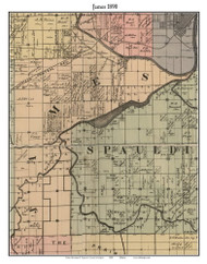 James, Michigan 1890 Old Town Map Custom Print - Saginaw Co.