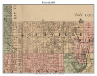 Kochville, Michigan 1890 Old Town Map Custom Print - Saginaw Co.