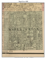 Maple Grove, Michigan 1890 Old Town Map Custom Print - Saginaw Co.