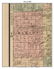 Marion, Michigan 1890 Old Town Map Custom Print - Saginaw Co.