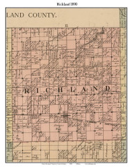 Richland, Michigan 1890 Old Town Map Custom Print - Saginaw Co.