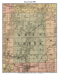 Swan Creek, Michigan 1890 Old Town Map Custom Print - Saginaw Co.