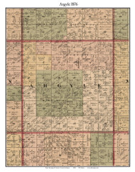 Argyle, Michigan 1876 Old Town Map Custom Print - Sanilac Co.