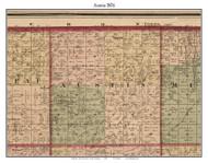 Austin, Michigan 1876 Old Town Map Custom Print - Sanilac Co.