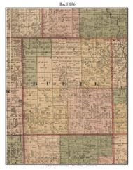 Buell, Michigan 1876 Old Town Map Custom Print - Sanilac Co.