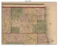 Delaware, Michigan 1876 Old Town Map Custom Print - Sanilac Co.