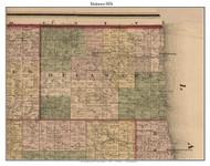 Delaware, Michigan 1876 Old Town Map Custom Print - Sanilac Co.