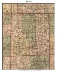 Elk, Michigan 1876 Old Town Map Custom Print - Sanilac Co.