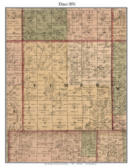 Elmer, Michigan 1876 Old Town Map Custom Print - Sanilac Co.