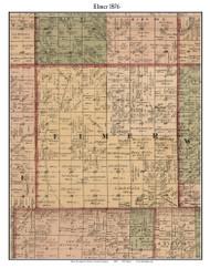 Elmer, Michigan 1876 Old Town Map Custom Print - Sanilac Co.