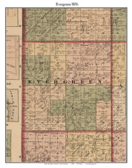 Evergreen, Michigan 1876 Old Town Map Custom Print - Sanilac Co.