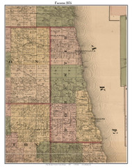 Forester, Michigan 1876 Old Town Map Custom Print - Sanilac Co.