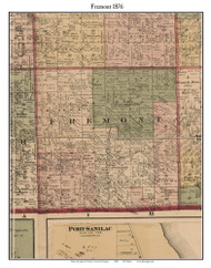 Fremont, Michigan 1876 Old Town Map Custom Print - Sanilac Co.