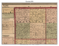 Greenleaf, Michigan 1876 Old Town Map Custom Print - Sanilac Co.
