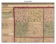 Greenleaf, Michigan 1876 Old Town Map Custom Print - Sanilac Co.