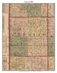 Lamotte, Michigan 1876 Old Town Map Custom Print - Sanilac Co.