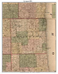 Lexington, Michigan 1876 Old Town Map Custom Print - Sanilac Co.