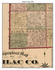 Maple Valley, Michigan 1876 Old Town Map Custom Print - Sanilac Co.