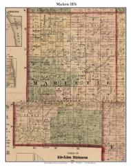Marlette, Michigan 1876 Old Town Map Custom Print - Sanilac Co.