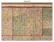 Minden, Michigan 1876 Old Town Map Custom Print - Sanilac Co.