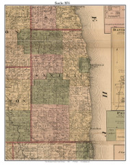 Sanilac, Michigan 1876 Old Town Map Custom Print - Sanilac Co.