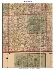 Speaker, Michigan 1876 Old Town Map Custom Print - Sanilac Co.