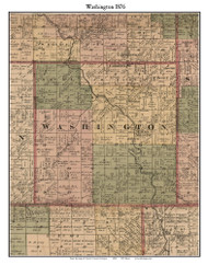 Washington, Michigan 1876 Old Town Map Custom Print - Sanilac Co.