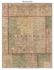 Watertown, Michigan 1876 Old Town Map Custom Print - Sanilac Co.