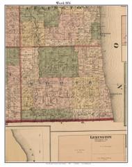 Worth, Michigan 1876 Old Town Map Custom Print - Sanilac Co.