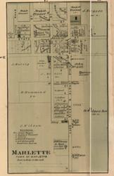 Marlette Village, Marlette, Michigan 1876 Old Town Map Custom Print - Sanilac Co.