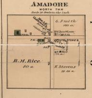 Amadore Village, Worth, Michigan 1876 Old Town Map Custom Print - Sanilac Co.