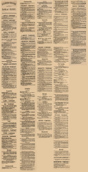 Business Directory, Sanilac County, Michigan 1876 Old Town Map Custom Print -