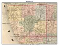 Benona, Michigan 1876 Old Town Map Custom Print - Oceana Co.
