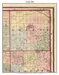 Colfax, Michigan 1876 Old Town Map Custom Print - Oceana Co.