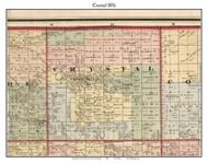 Crystal, Michigan 1876 Old Town Map Custom Print - Oceana Co.