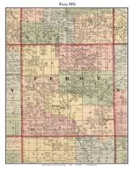 Ferry, Michigan 1876 Old Town Map Custom Print - Oceana Co.