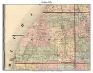 Golden, Michigan 1876 Old Town Map Custom Print - Oceana Co.