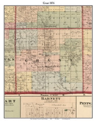 Grant, Michigan 1876 Old Town Map Custom Print - Oceana Co.