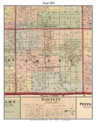 Grant, Michigan 1876 Old Town Map Custom Print - Oceana Co.
