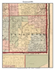 Greenwood, Michigan 1876 Old Town Map Custom Print - Oceana Co.