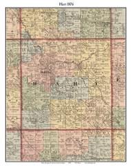Hart, Michigan 1876 Old Town Map Custom Print - Oceana Co.